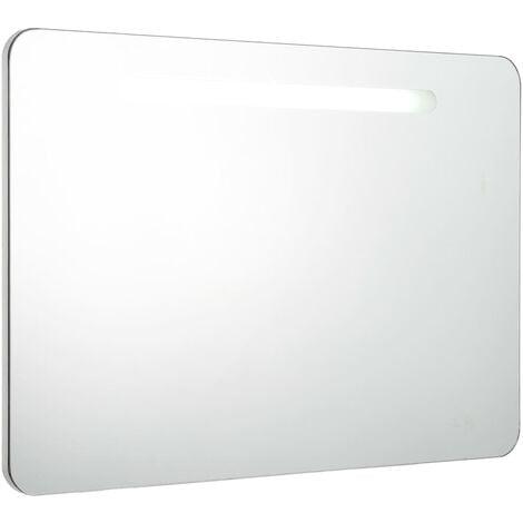 LED Bathroom Mirror Cabinet 80x11x55 cm