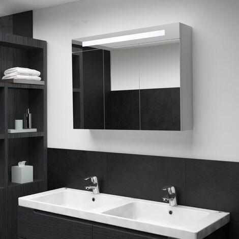 LED Bathroom Mirror Cabinet 88x13x62 cm