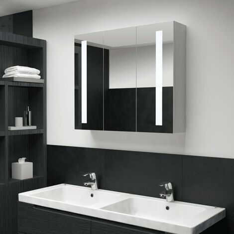 LED Bathroom Mirror Cabinet 89x14x62 cm