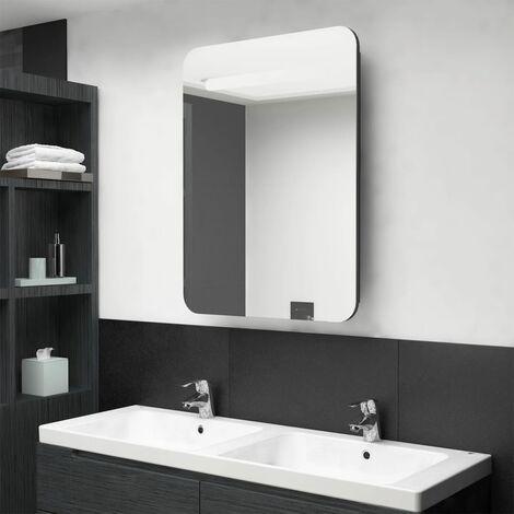 "main image of ""LED Bathroom Mirror Cabinet Shining Black 60x11x80 cm28101-Serial number"""