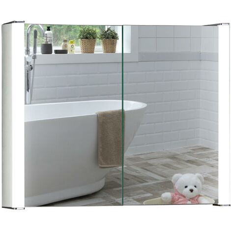 LED Bathroom Mirror Cabinet - Various Sizes Available