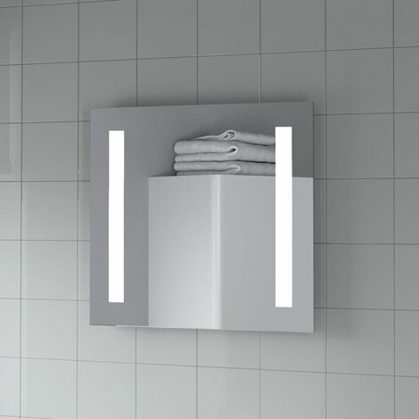 """main image of """"LED Bathroom Mirror Demister Pad 500x500mm Wall Mounted Mains Powered Modern"""""""