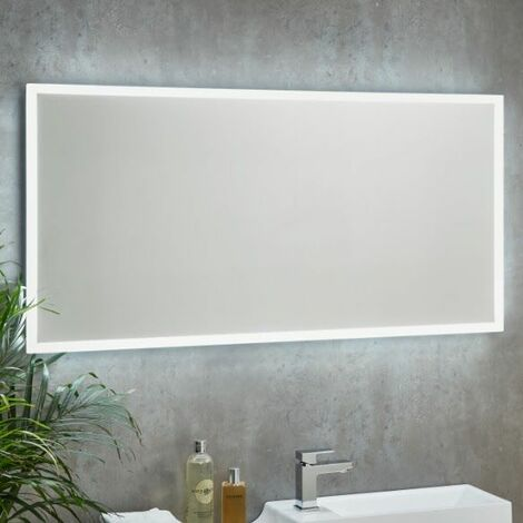 LED Bathroom Mirror Demister Pad Shaver Socket 1200mm x 600mm Wall Mounted Mains