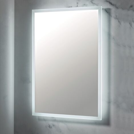 LED Bathroom Mirror Demister Pad Shaver Socket 600mm x 800mm Wall Mounted Mains