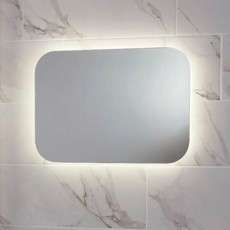 LED Bathroom Mirror Demister Pad Shaver Socket Colour Change 500mm x 700mm Mains