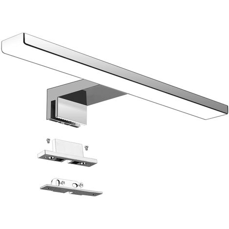 LED Bathroom Mirror Lamp 5W 230V 500lm, IP44 Waterproof 30cm Bathroom Fixture Clip, Neutral White 4000K, No Strobe Lighting, Anti-fog Stainless Steel Mirror Bulb, 300mm [Energy class A +]