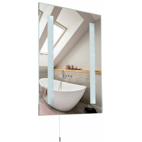 LED Battery Operated Illuminating Bathroom Mirror - Ip44