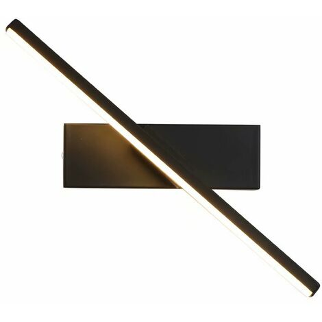LED Bedside Wall Light, New Project Hotel Developer Stairway Wall Living Room Wall Lamp, (Hot White Light Black F) -
