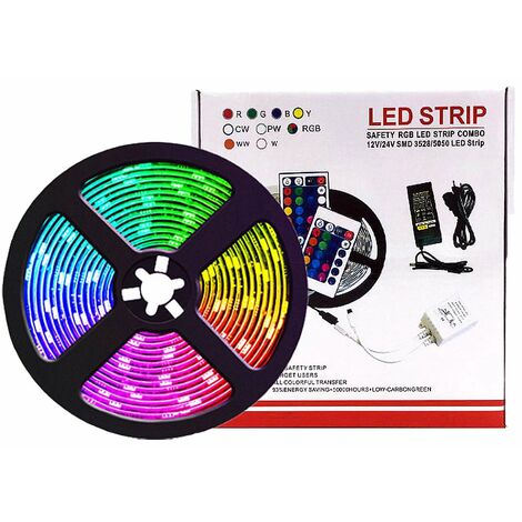 LED Bluetooth LED Band, LED 5M RGB 5050 IP65 LED Band With 28 Dynamic Modes, Multicolored Light Tape Controlled by Application and Remote Control, synchronized with the rhythm of music and timer function