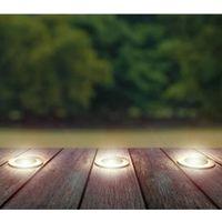LED Bodeneinbaustrahler Solarbetrieben Edelstahl 3er set 100mm