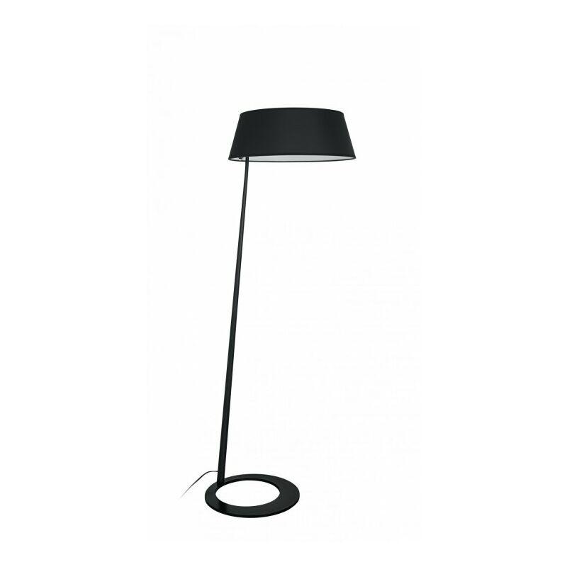 Lampada da terra Piantana di colore nero dalla forma originale 60 watt E27