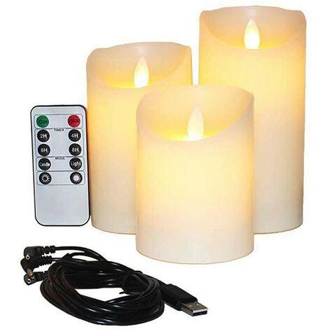"""main image of """"LED bougie électronique lumière romantique anniversaire créatif feu d'artifice fausse bougie maison pour bouddha rouge simulation télécommande bougie lumière"""""""
