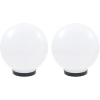 LED Bowl Lamps 2 pcs Spherical 25 cm PMMA