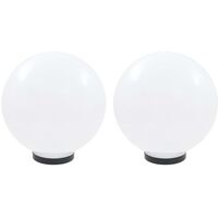 LED Bowl Lamps 2 pcs Spherical 30 cm PMMA