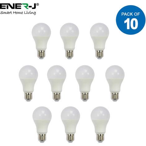 LED Bulb- 10W GLS A60 LED Thermoplastic Lamp E27 3000K (pack of 10 units)