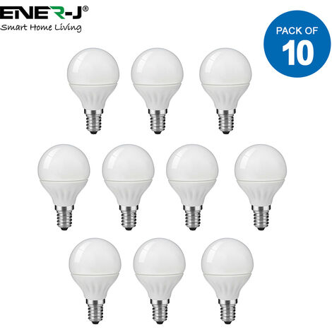 LED Bulb- 4W LED Golf Lamp E14 P45 6000K (pack of 10 units)
