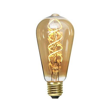 LED bulbo E27 filamento 3.8W oro regulable   Temperatura de color: Blanc Chaud 2100K