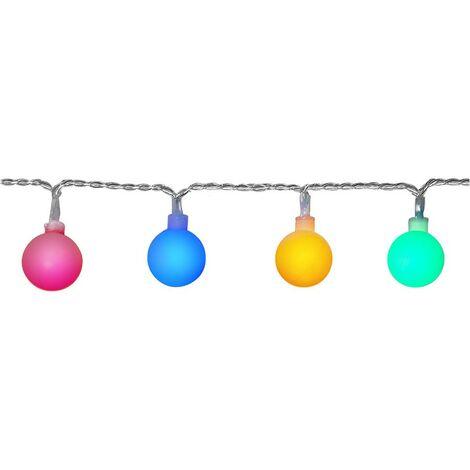 LED cadena 10 metros 50 bolas multicolores (guinguette)