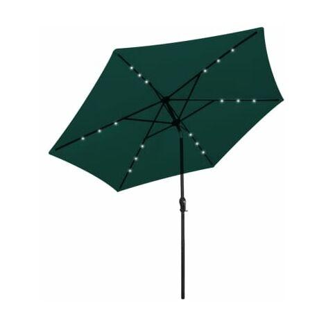 LED Cantilever Umbrella 3 m Green