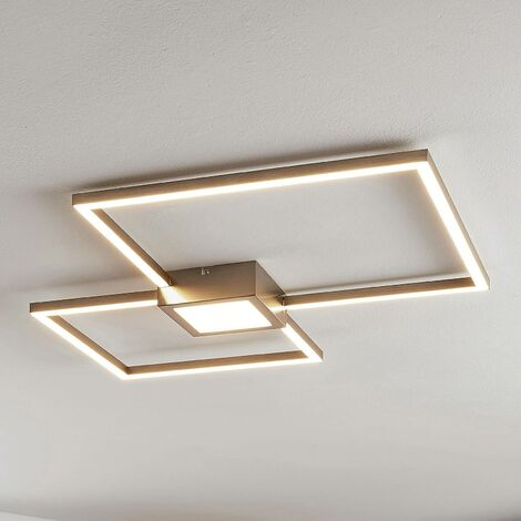 LED ceiling light Duetto, squares