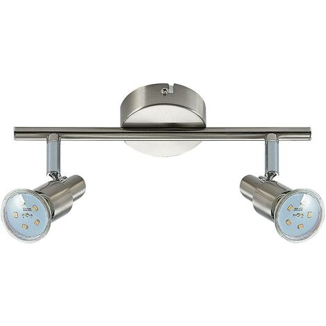 """main image of """"LED Ceiling Light 'Farida' (modern) in Silver made of Metal (2 light sources, GU10) from ELC   floodlight, spotlight"""""""
