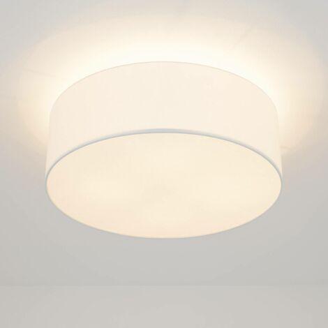 LED ceiling light Gala, 50cm, white chintz shade