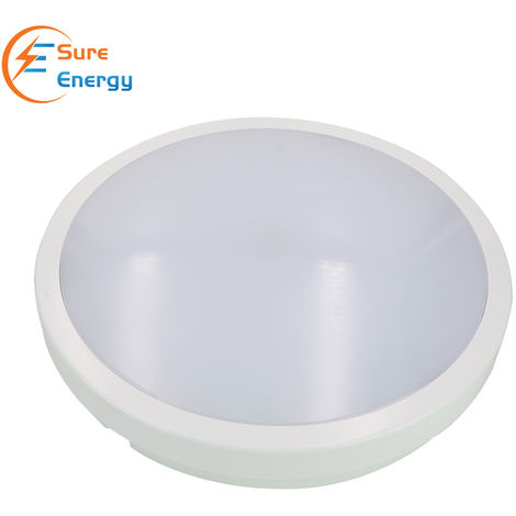LED Ceiling Light IP54 Waterproof, 24W 2200lm, Neutral White 4000K, Flush Mount, Round LED Ceiling Light for Bathroom, Kitchen, Hallway, Outside Porch and More