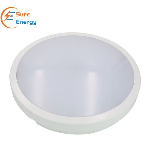 LED Ceiling Light IP54 Waterproof, 24W with Microwave Sensor, 2200lm, Neutral White 4000K, Flush Mount, Round LED Ceiling Light for Bathroom, Kitchen, Hallway, Outside Porch and More