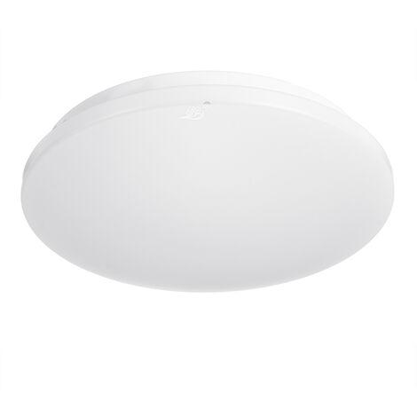 LED ceiling light minimalist modern living room lamp round high power LED lens cover ceiling PP + aluminum chassis 220V 24W 6500K white light positive Mohoo