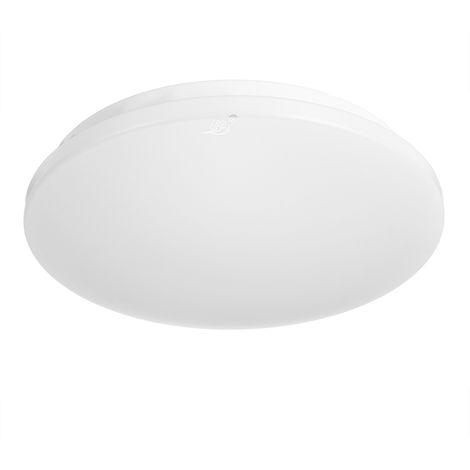 Led Ceiling Light Modern Minimalist Round Living Room Bedroom High Power Lens Lamp Led Ceiling Light Pp Cover + Aluminum Frame 220V White Light Positive 6500K 24W