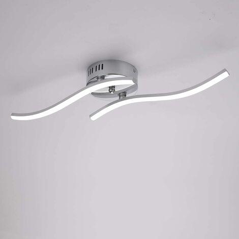 """main image of """"LED ceiling light, Pendant light Wave-shaped light, neutral white light 4000K, integrated LEDs 12W 1100 Lumen, modern chandelier for living room or kitchen, IP20 (neutral white light)"""""""