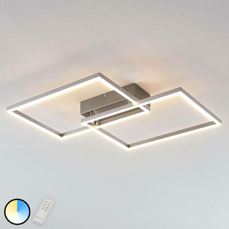 LED ceiling light Quadra, dimmable, two-bulb 50 cm