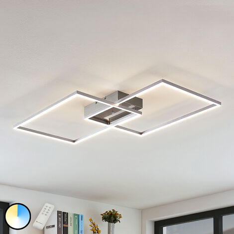 LED ceiling light Quadra, dimmable, two-bulb 75 cm