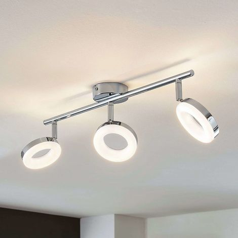 LED ceiling light Ringo, 3-bulb long