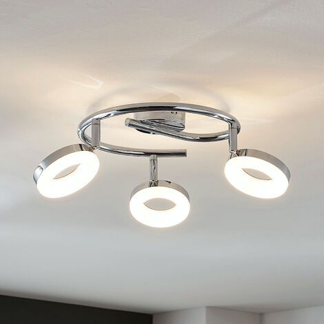 LED ceiling light Ringo, 3-bulb spiral