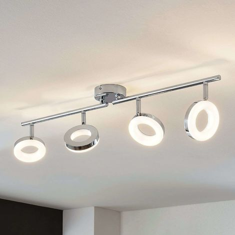 LED ceiling light Ringo, four-bulb