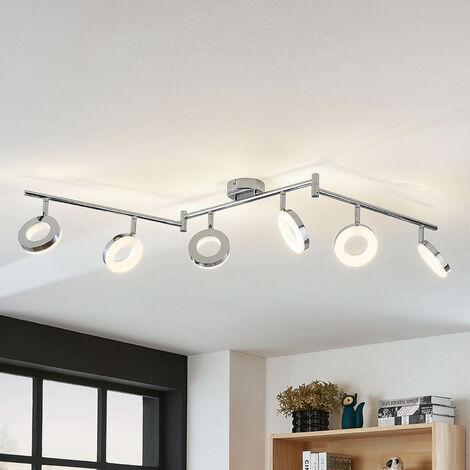 LED ceiling light Ringo, six-bulb