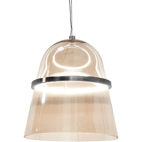LED Ceiling Light Smoked Glass Gold ARDILLA