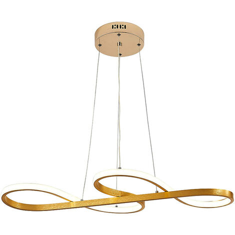 LED Ceiling Light Wire Pendant Lamp Golden Note Chandelier Lights, 75CM Cool White