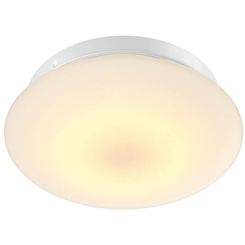 Image of Arcchio - LED Ceiling Light with Sensor 'Marlie' (modern) in White made of Glass for e.g. Bathroom (1 light source, A) from ceiling lamp, lamp