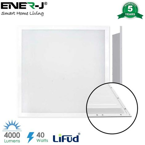 LED Ceiling Slim Backlit Panel 60x60cms with TPA Diffuser, 40W, 4000 Lumens, 6000K (2pc pack)