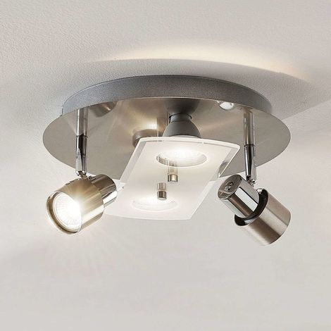 LED ceiling spotlight Cleon, dimmable via switch