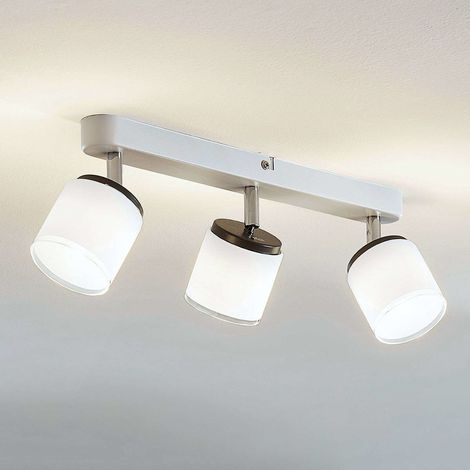 LED ceiling spotlight Futura, 3-bulb, long