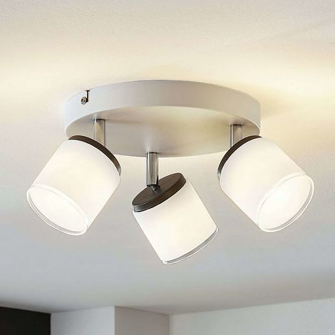 LED ceiling spotlight Futura, 3-bulb, round