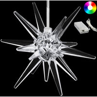 LED Christmas Star made of Clear Acrylic Colour Change