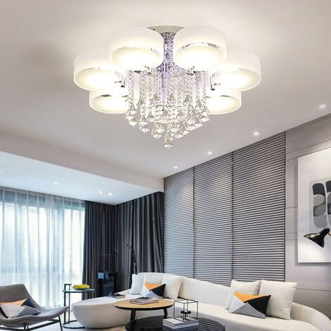 """main image of """"LED Crystal Ceiling Light Chandelier Lamp, 7 Head"""""""