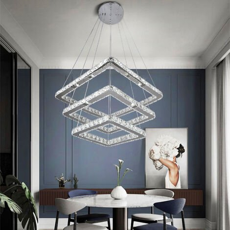 LED Crystal Ceiling Light Pendant Chandelier Lamp, Dimmable