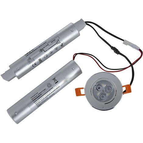 LED de 3W de Emergencia Empotrable IP20 Comercial Recargable
