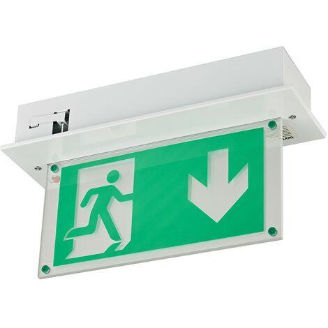 LED de Salida de Emergencia Montaje Empotrado con Mantenimiento