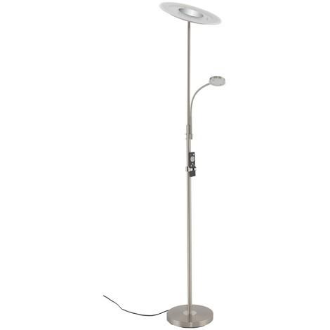 LED Deckenfluter Briloner 1340-022 Standlampe Mit Fernbedienung Nickel